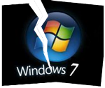 cracked windows seven logo